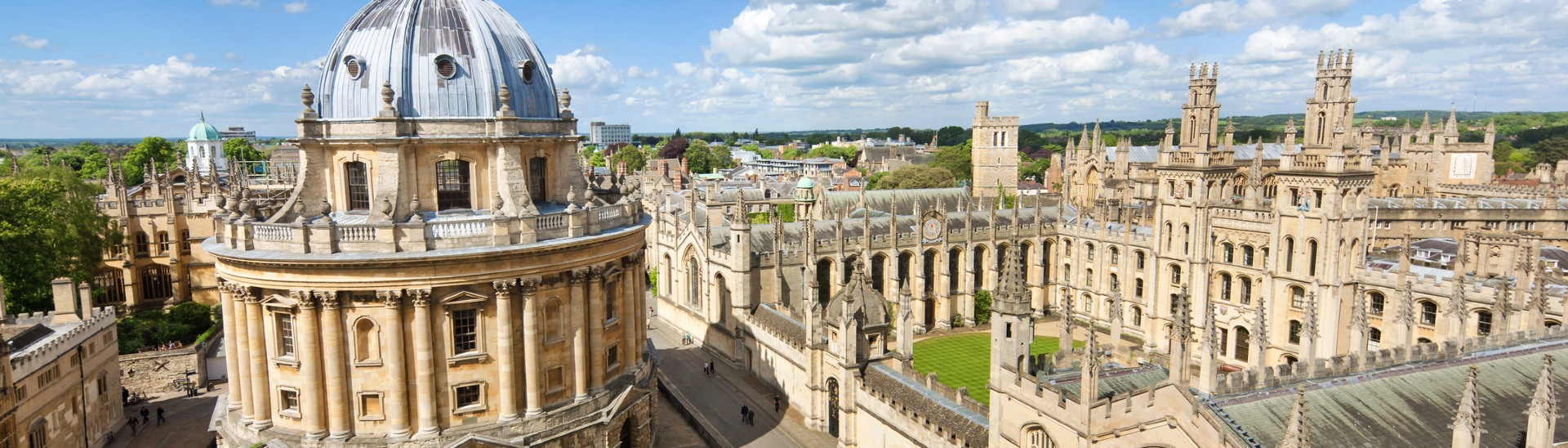 Corpus Christi college, home to Oxbridge students for the summer