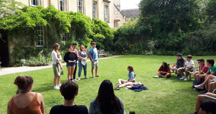 Students present for their summer course on Corpus Christi garden