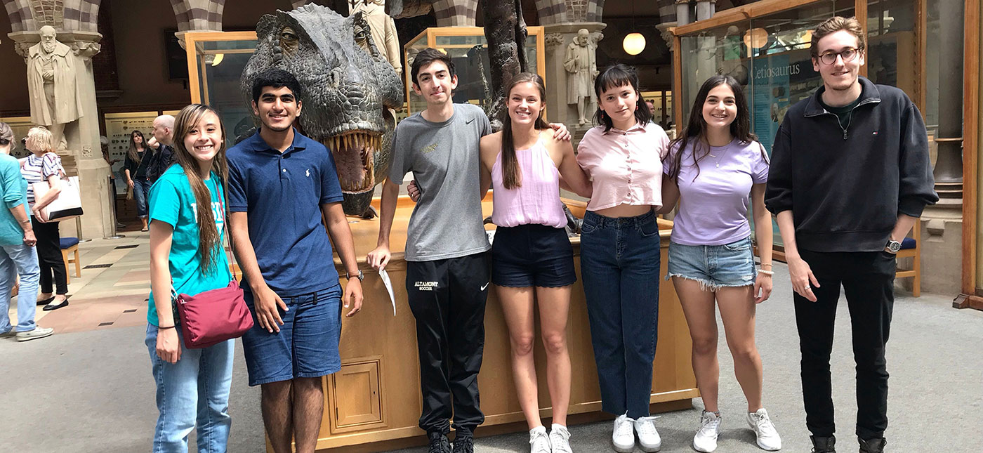 Oxbridge students during trip to Oxford University Natural History Museum