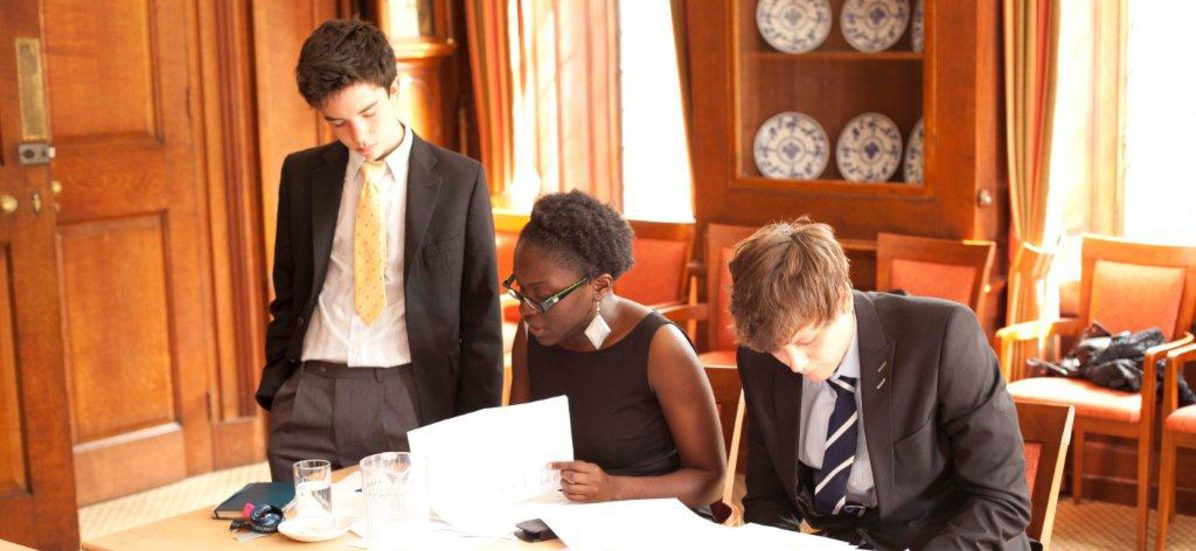 Oxbridge students during speech and debate summer course