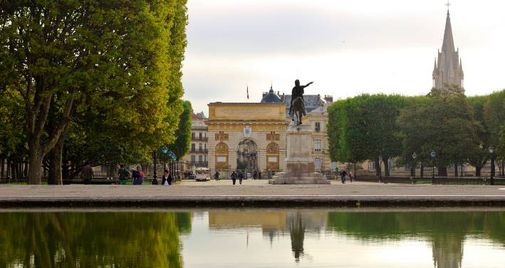 View of historic site in Paris, France