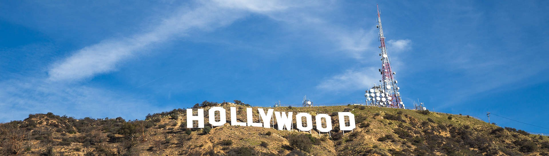 Hollywood sign, American landmark in Los Angeles