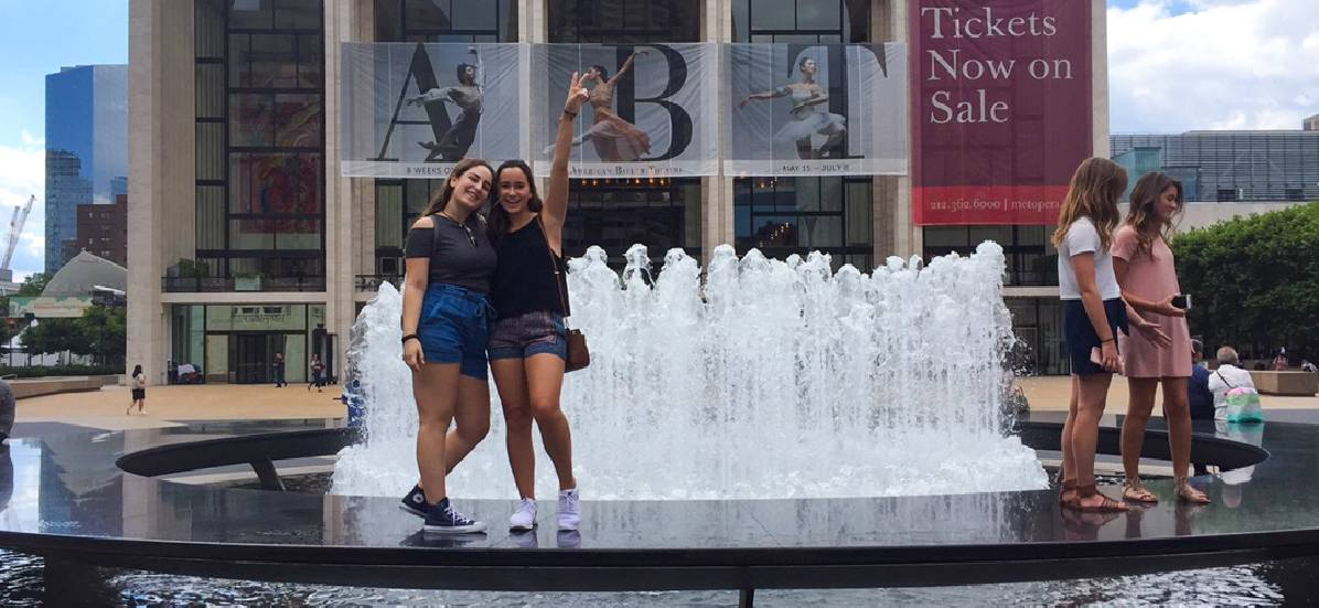 Oxbridge students at Lincoln Center for the Performing Arts